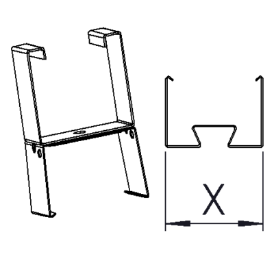 Lighting suspension rail bracket