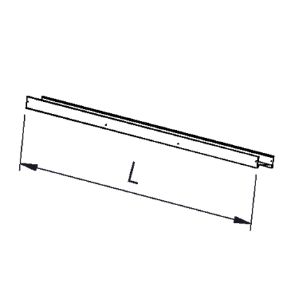Extension profile L=1490mm or 2700mm