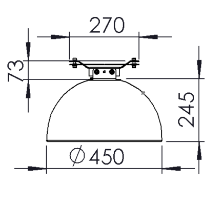 Wire mounting dimensions