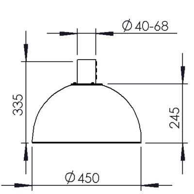 Vertical tube bracket