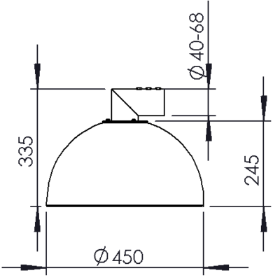 Horizontal tube bracket
