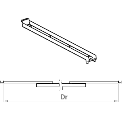 Rail bracket Phi 2312 Dr=2,9-3,7m or 3,7-4,5m